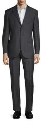 Saks Fifth Avenue Wool Pinstripe Suit