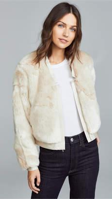 J Brand Ashbey Faux Fur Jacket