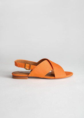 And other stories Criss Cross Slingback Sandals