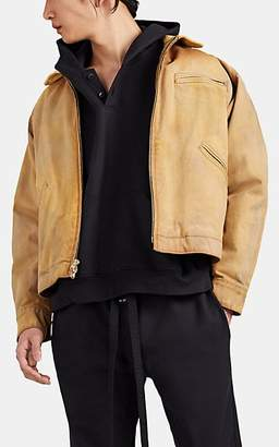 da5da883835e Fear Of God Men s Faded Cotton Canvas   Suede Work Jacket - Camel