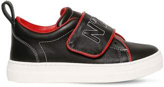 N°21 Embroidered Leather Sneakers