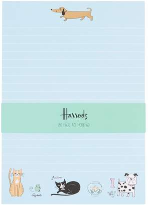 Harrods Quirky Pets A5 Notepad