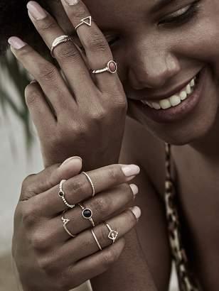 Shein Leaf & Gemstone Decor Ring 9pcs