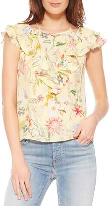 Parker Terry Floral Silk Top