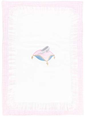 MonnaLisa embroidered newborn blanket