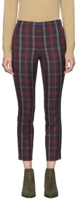 Rag & Bone Burgundy Plaid Simone Trousers