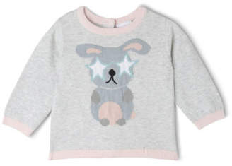 Sprout NEW Girls Bunny Jumper Grey Marle