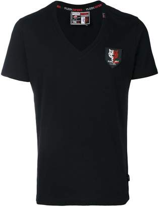 Plein Sport V-neck patch T-shirt