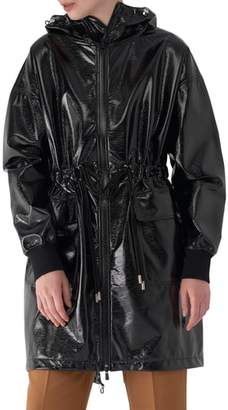 Sosken Greta Faux Patent Leather Raincoat
