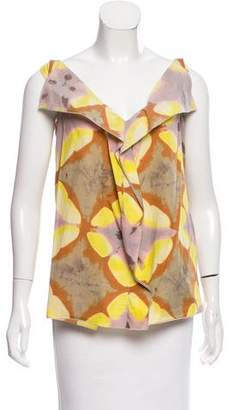 Marni Watercolor Print Sleeveless Top