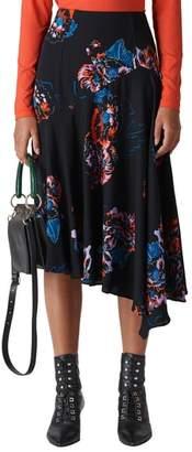 Whistles Freya Floral Asymmetrical Skirt