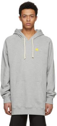 Acne Studios Bla Konst Grey Badge Hoodie
