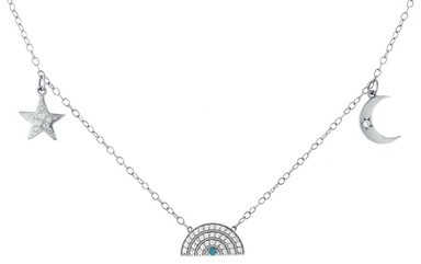 Andrea Fohrman Celestial Trinket Necklace - White Gold