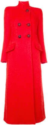 Giorgio Armani long double breasted coat