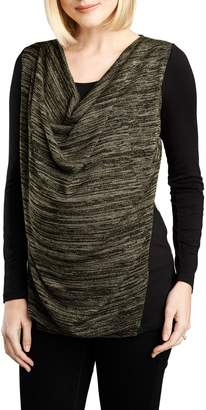 Maternal America Cowl Neck Nursing Top