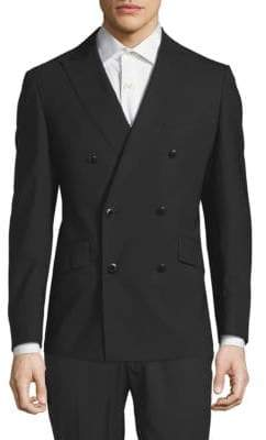 Robert Graham Double-Breasted Wool-Blend Jacket