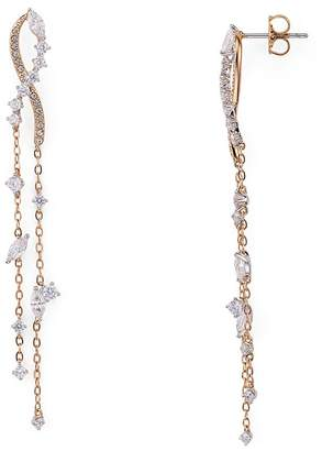 Nadri Ivy Cubic Zirconia Linear Chain Earrings $85 thestylecure.com