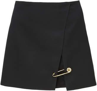 Versace Embellished Wool Mini Skirt Size: 38