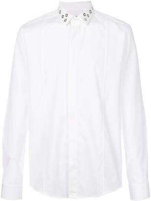 Les Hommes eyelets collar shirt
