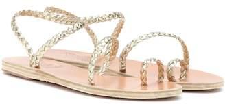 Ancient Greek Sandals Eleftheria metallic leather sandals