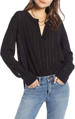 Treasure & Bond Metallic Sheer Stripe Shirt