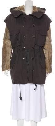 3.1 Phillip Lim Fur Short Coat