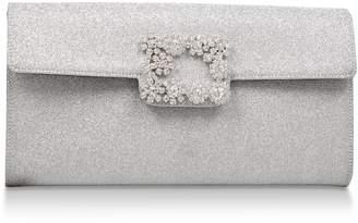 Roger Vivier Glitter Broche Vivier Envelope Clutch Bag