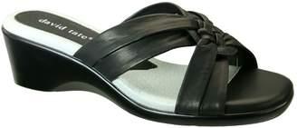 David Tate Leather Slide Sandals - Verona