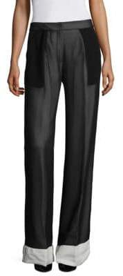 Derek Lam Wide-Leg Tuxedo Trousers