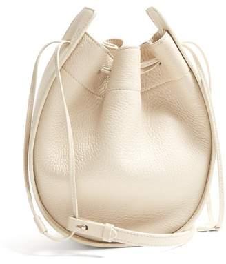 The Row Drawstring Leather Cross Body Bag - Womens - Cream
