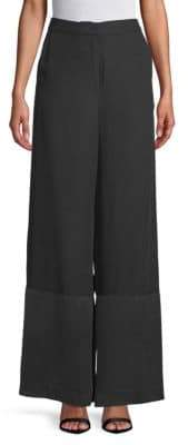 Robert Rodriguez Silk Wide-Leg Pants