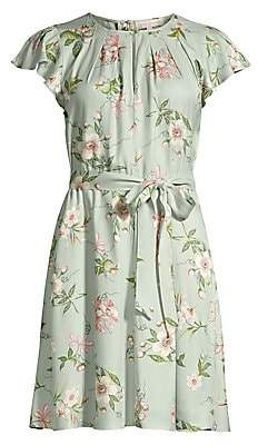 Rebecca Taylor Women's Flutter Sleeve Floral Dress