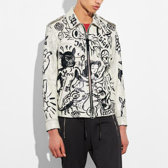 COACH Coach Printed Officer Jacket $2,000 thestylecure.com