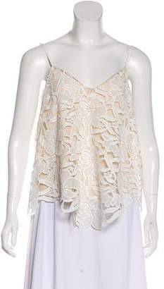 Alice + Olivia Embroidered Sleeveless Top