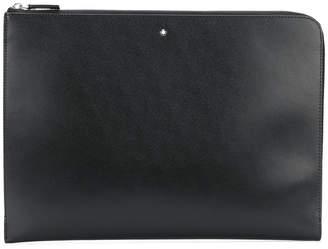 Montblanc zipped portfolio clutch