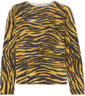 Prada Oversized Striped Wool Sweater - Yellow