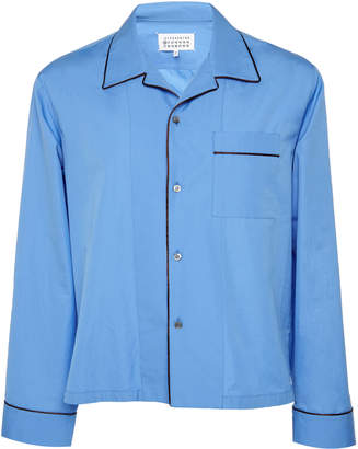Maison Margiela Camp Collar Cotton Pajama Shirt