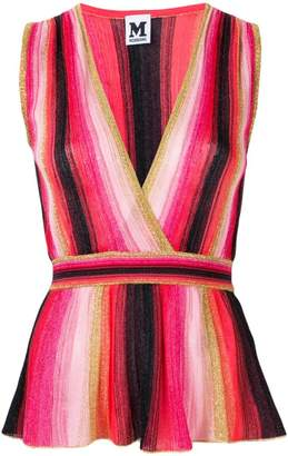 M Missoni sweetheart neck knitted top