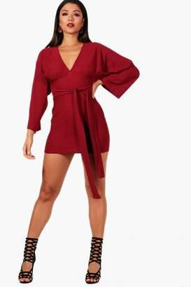 boohoo Kimono Sleeve Bodycon Dress