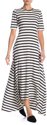 J.Crew J. Crew Short Sleeve Stripe Print Dress