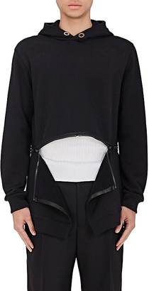 Givenchy GIVENCHY MEN'S ZIP-BOTTOM FLEECE HOODIE $990 thestylecure.com