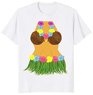 Coconut Bra Grass Skirt Lei Flowers Summer Party Shirt