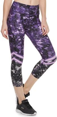 Fila Sport Women's SPORT Printed High-Waisted Capri Leggings