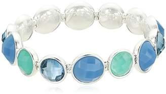 Nine West Womens Silver-Tone and Stretch Bracelet