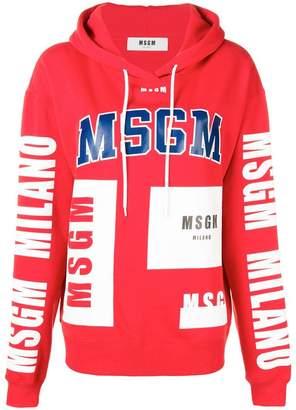 MSGM printed logo hoodie