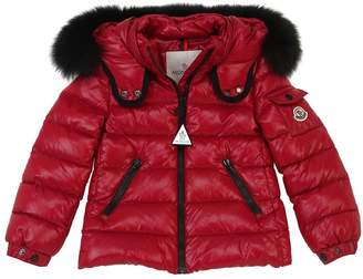 Moncler Bady Nylon Down Jacket W/ Fox Fur