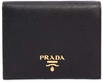 Prada Small Saffiano Leather Snap Wallet