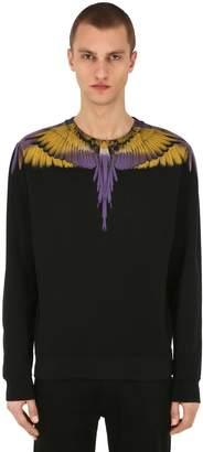 Marcelo Burlon County of Milan Printed Wings Cotton Jersey Sweatshirt