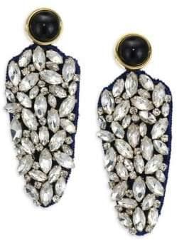 Lizzie Fortunato Crystal Dagger Earrings