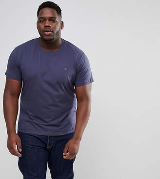 Farah PLUS Farris Slim Fit T-Shirt in Navy